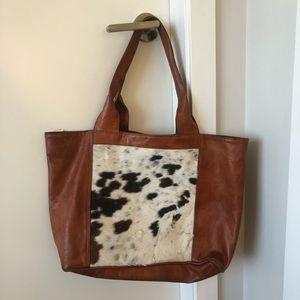 Vintage Genuine Cow Hide Hobo Bag